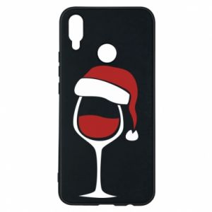 Etui na Huawei P Smart Plus Glass of wine in christmas hat