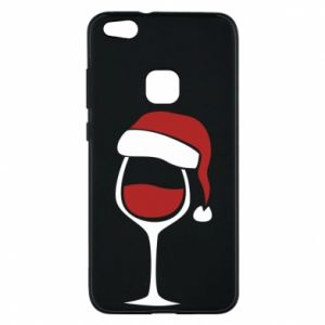 Etui na Huawei P10 Lite Glass of wine in christmas hat