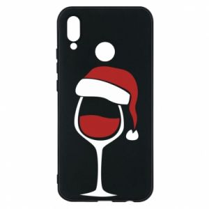 Etui na Huawei P20 Lite Glass of wine in christmas hat