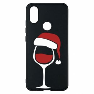 Etui na Xiaomi Mi A2 Glass of wine in christmas hat