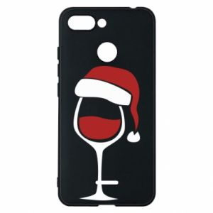 Etui na Xiaomi Redmi 6 Glass of wine in christmas hat