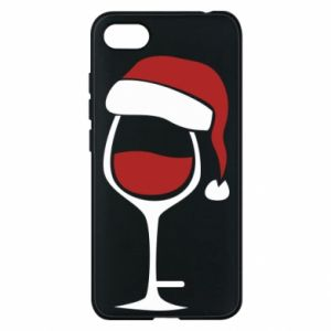 Etui na Xiaomi Redmi 6A Glass of wine in christmas hat