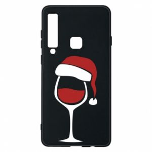Etui na Samsung A9 2018 Glass of wine in christmas hat