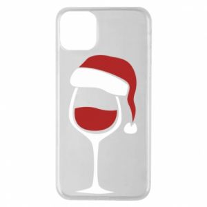 Etui na iPhone 11 Pro Max Glass of wine in christmas hat