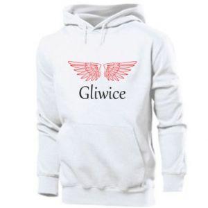 Męska bluza z kapturem Gliwice skrzydła