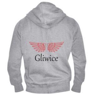 Męska bluza z kapturem na zamek Gliwice skrzydła