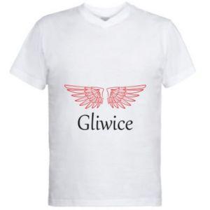 Męska koszulka V-neck Gliwice skrzydła
