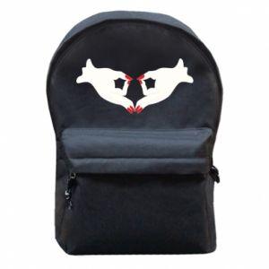 Plecak z przednią kieszenią Gloved hands