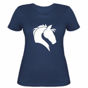 Damska koszulka Głowa konia - PrintSalon