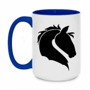 Two-toned mug 450ml Horse head