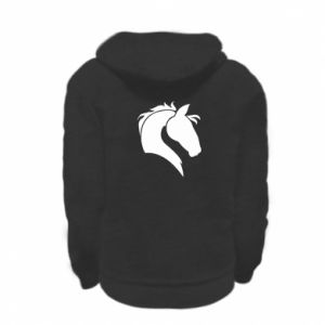 Kid's zipped hoodie % print% Horse head
