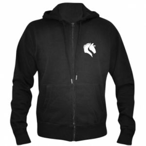 Men's zip up hoodie Horse head
