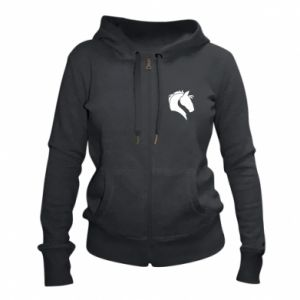 Women's zip up hoodies Horse head
