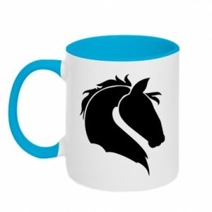 Two-toned mug Horse head
