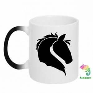 Chameleon mugs Horse head