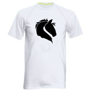Men's sports t-shirt Horse head