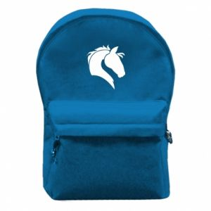 Backpack with front pocket Horse head