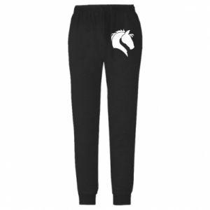 Męskie spodnie lekkie Głowa konia - PrintSalon