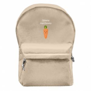 Backpack with front pocket Main carrot - PrintSalon