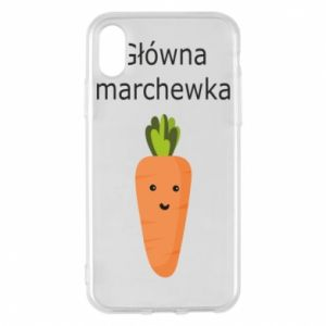 Phone case for iPhone X/Xs Main carrot - PrintSalon