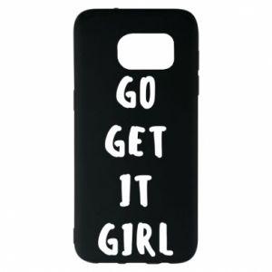 Etui na Samsung S7 EDGE Go get it girl