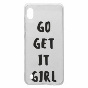 Etui na Samsung A10 Go get it girl