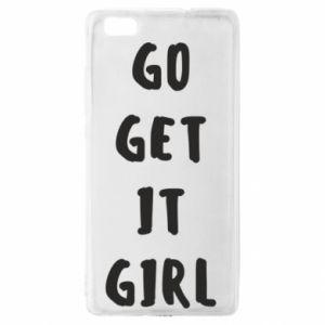 Etui na Huawei P 8 Lite Go get it girl