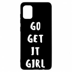 Etui na Samsung A31 Go get it girl