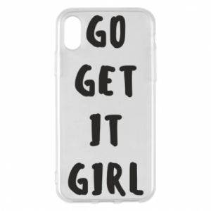 Etui na iPhone X/Xs Go get it girl