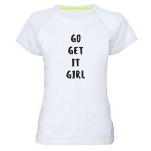 Koszulka sportowa damska Go get it girl