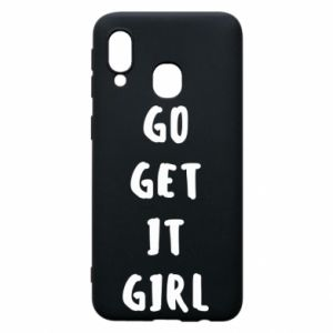 Etui na Samsung A40 Go get it girl