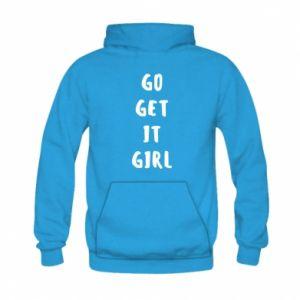 Bluza z kapturem dziecięca Go get it girl