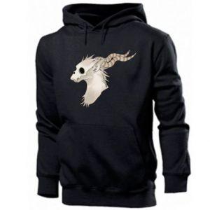 Men's hoodie Goat skull