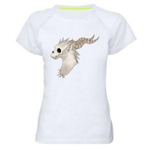 Koszulka sportowa damska Goat skull