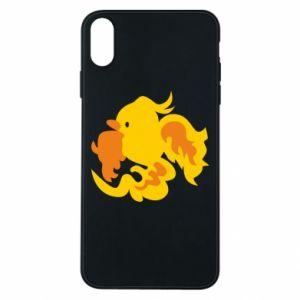 Phone case for iPhone Xs Max Golden Phoenix - PrintSalon