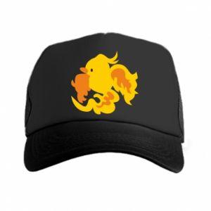 Trucker hat Golden Phoenix - PrintSalon