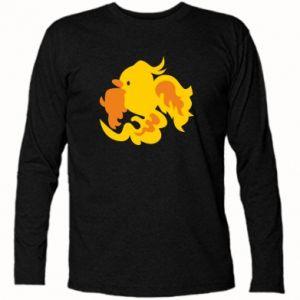 Long Sleeve T-shirt Golden Phoenix - PrintSalon