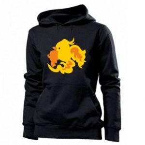 Women's hoodies Golden Phoenix - PrintSalon