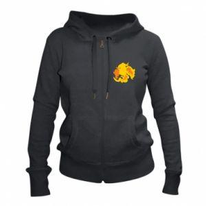 Women's zip up hoodies Golden Phoenix - PrintSalon