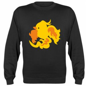 Sweatshirt Golden Phoenix - PrintSalon