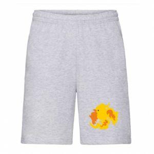 Men's shorts Golden Phoenix - PrintSalon