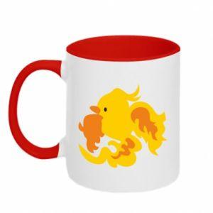 Two-toned mug Golden Phoenix - PrintSalon