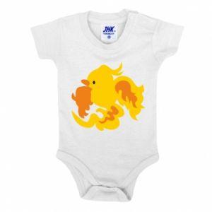 Baby bodysuit Golden Phoenix - PrintSalon