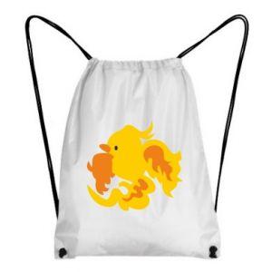 Backpack-bag Golden Phoenix - PrintSalon
