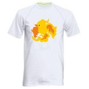 Men's sports t-shirt Golden Phoenix - PrintSalon