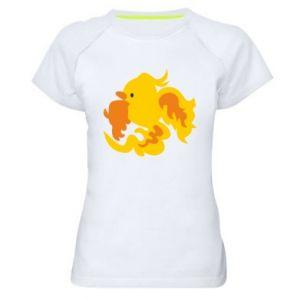 Women's sports t-shirt Golden Phoenix - PrintSalon