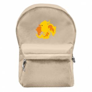 Backpack with front pocket Golden Phoenix