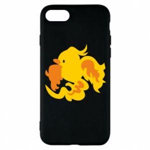 Phone case for iPhone 8 Golden Phoenix - PrintSalon