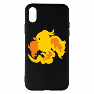Phone case for iPhone X/Xs Golden Phoenix - PrintSalon