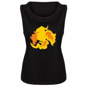 Women's t-shirt Golden Phoenix - PrintSalon